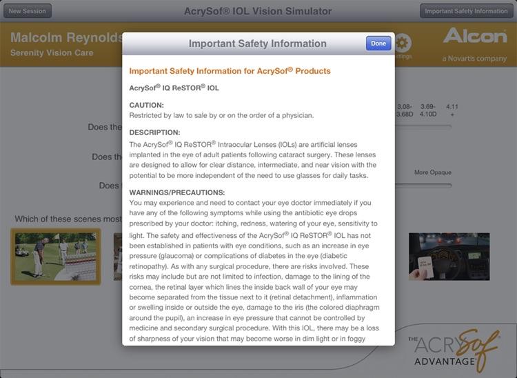 AcrySof IOL Vision Simulator (US) screenshot-4