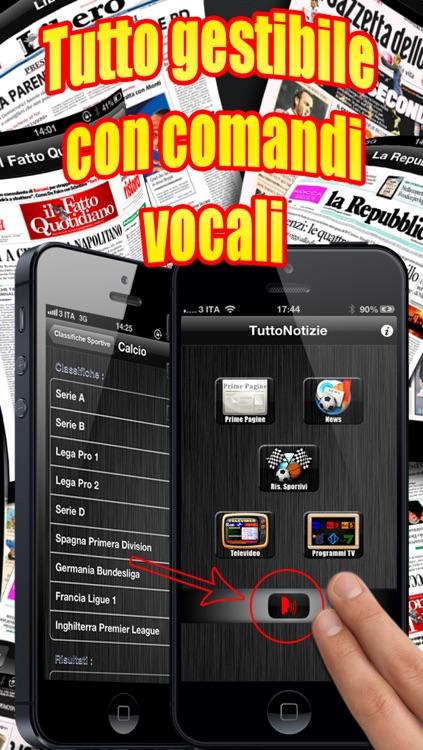 TuttoNotizie Vocale ( tanti giornali italiani e notizie a portata di voce ) screenshot-3