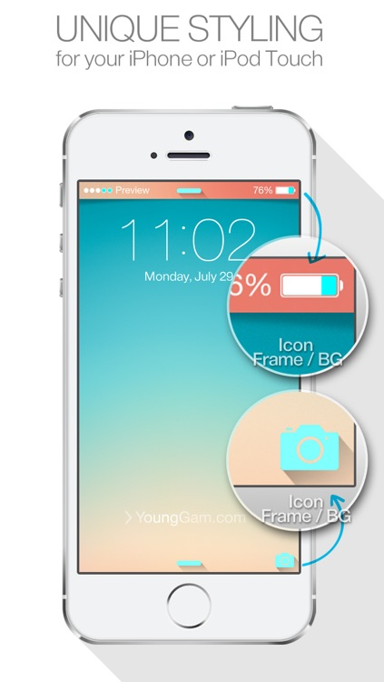 Status Bar Themes ( for iOS7 & Lock screen, iPhone ) New Wallpapers : by YoungGam.com screenshot-2