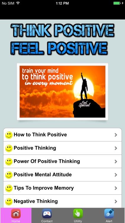 Think Positive Feel Positive