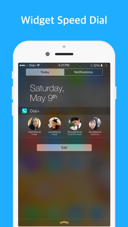 Dial+ (speed dial, Widget dial, one hand mode)