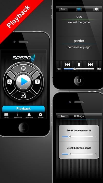 Speeq Spanish | English free screenshot-3