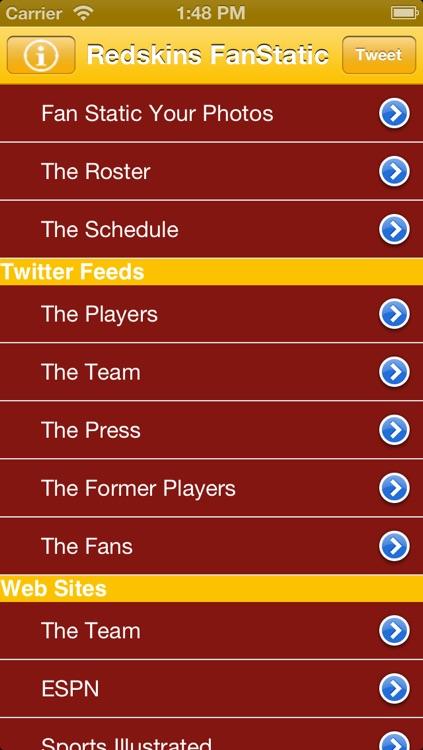 Redskins Fan Static