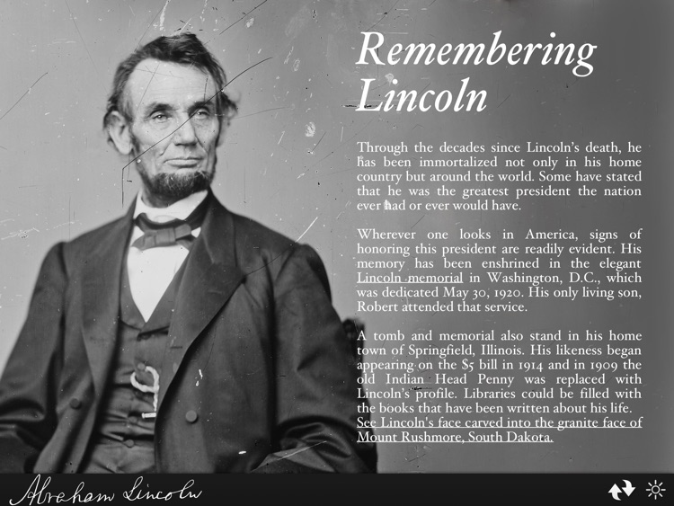 Abraham Lincoln Interactive Biography screenshot-4