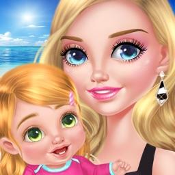 Babysitter & Baby's Beach Day: Paradise Island