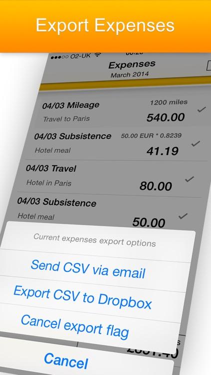 iExpenses Lite - business travel expenses screenshot-3