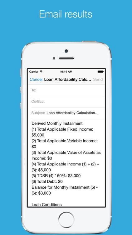 Loan Affordability Calculator screenshot-3