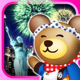 クマの花火パズル!