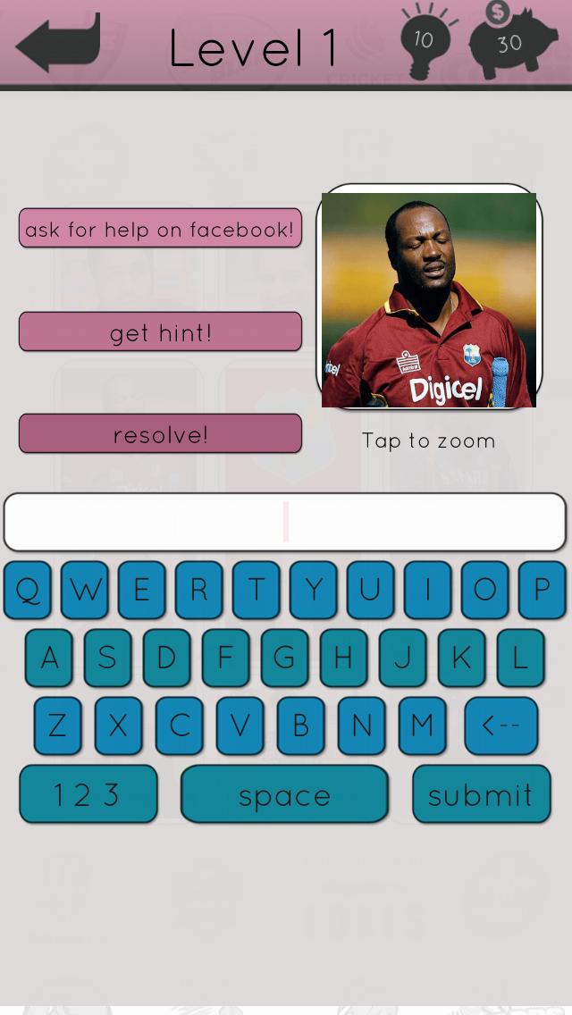 Cricket Icon Quiz screenshot three