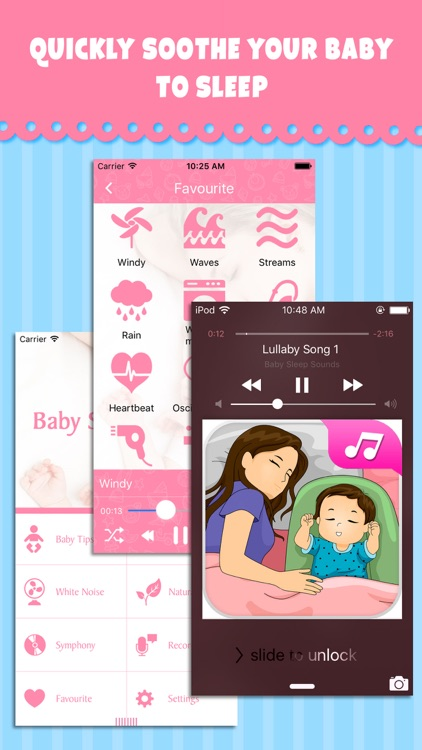 Baby Sleep Sounds - Relaxing music & white noise for calming your baby to sleep screenshot-2