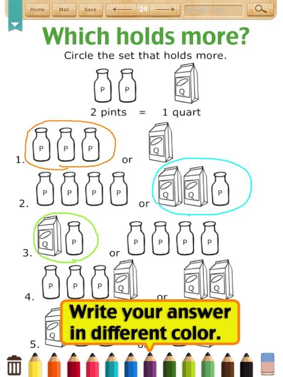 Kids Math-Measurement Worksheets(Grade 2)