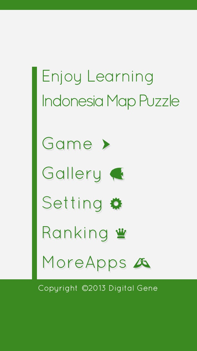 Enjoy Learning Indonesia Map Puzzle iPhone