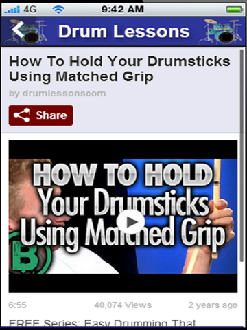 Drum Lessons:Learn the Basics of How to Play Drums | App