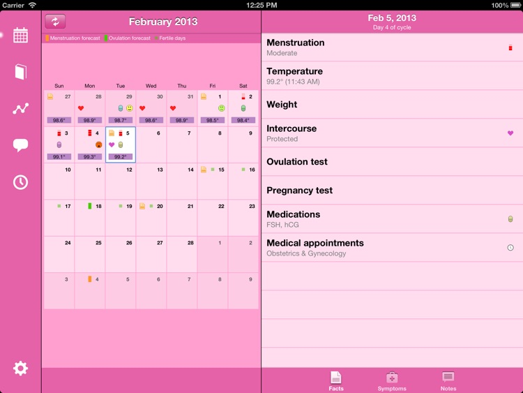 Menstrual Calendar for iPad screenshot-0