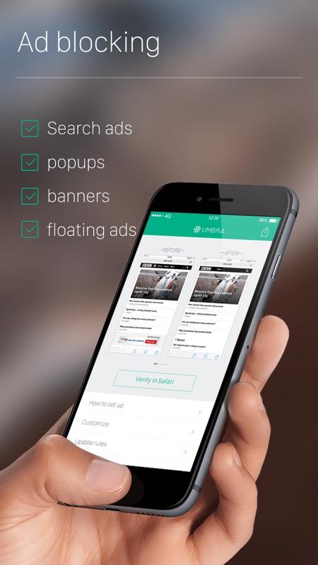 Umbra - Ad Blocker for Safari Browser, Best Free Content & Ads Block