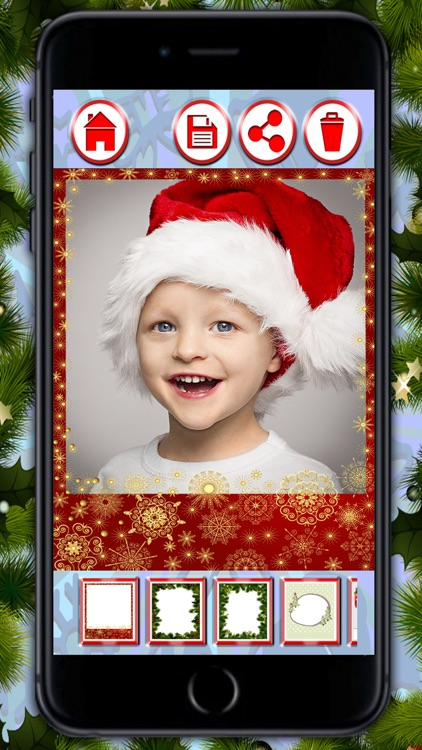 Christmas frames – Create customized xmas greetings to wish Merry Christmas