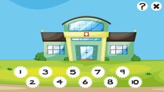 123 Animitiertes計數遊戲為幼兒:我的第一個數學問題。到10學在醫院數屏幕截圖5