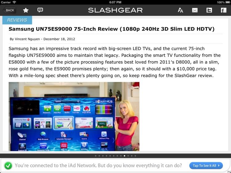 SlashGear for iPad screenshot-3