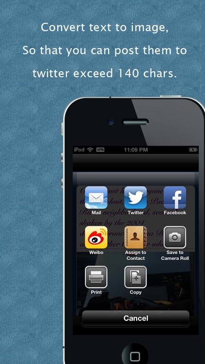 """LongTwit - """"Convert text to image for Twitter, Facebook & Weibo"""""""