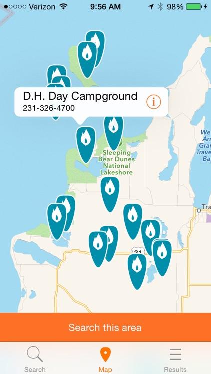 CampHero - Michigan Campground Finder