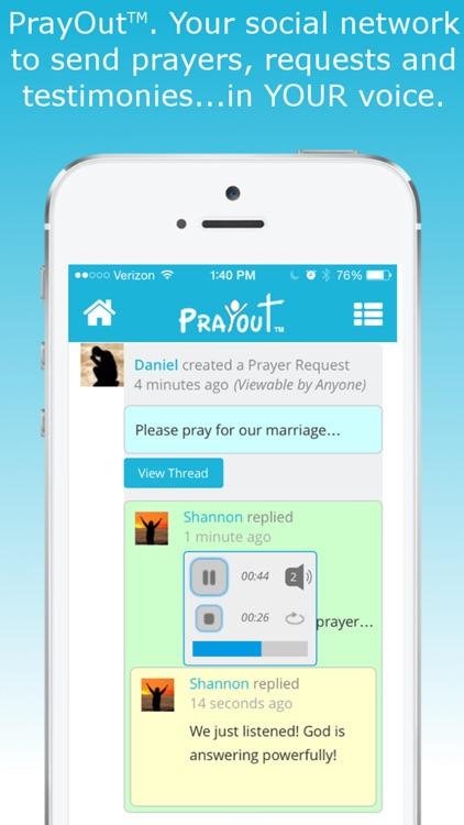 PrayOut - Voice Prayer Social Network