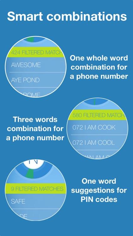 Numer | Mnemonic Phone Numbers screenshot-3