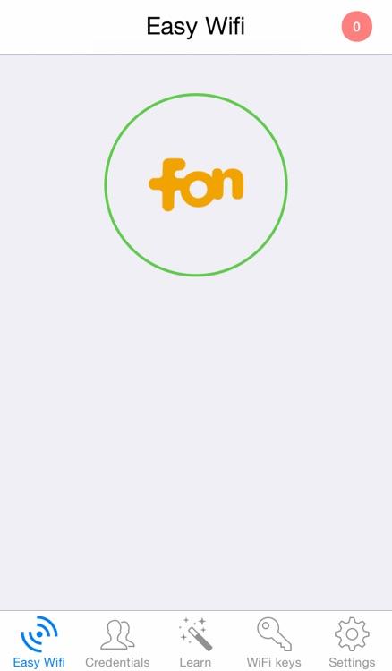Easy Wifi : automatic connection hotspots fon zon belgacom telenet voo freewifi sfr orange and iCloud sync screenshot-4