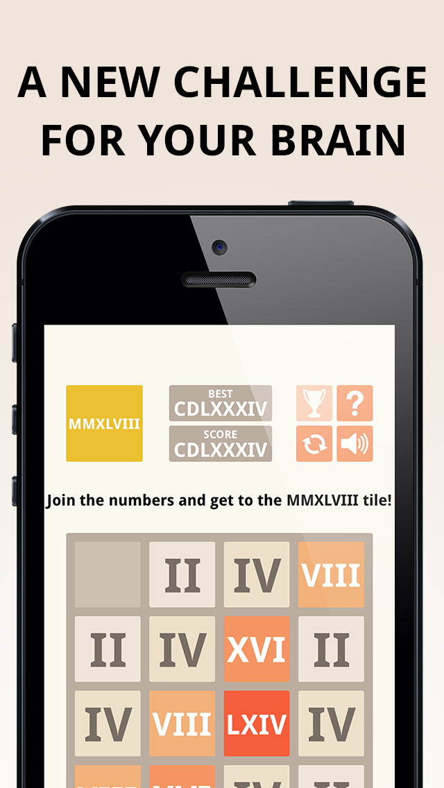MMXLVIII - 2048 Roman Numerals Tile Puzzle Game