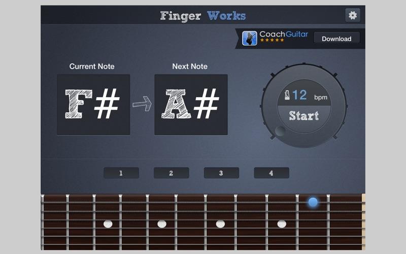Fingerworks - guitar software learning app teacher for Windows
