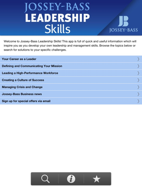 Jossey-Bass Leadership Skills HD