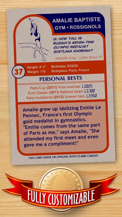 Women's Gymnastics Card Maker - Make Your Own Custom Gymnastics Cards with Starr Cards screenshot-1