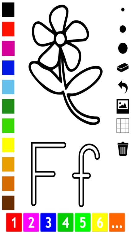 ABC Coloring Book for Toddlers: Learn to color and write the English letters of the alphabet