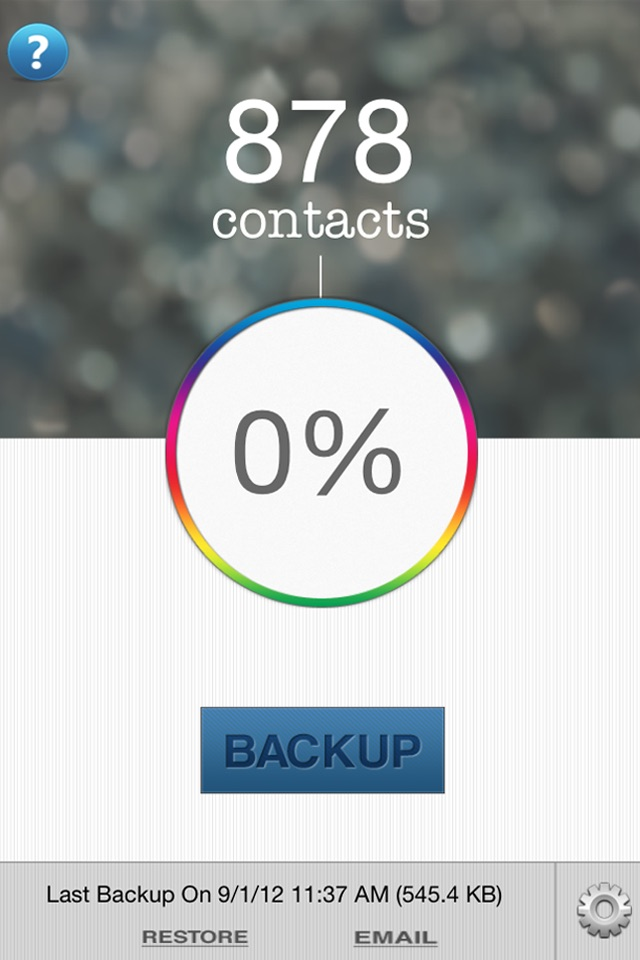 Contacts Backup & Transfer - Sync, copy and export your whole address book in vcard/vcf format Screenshot