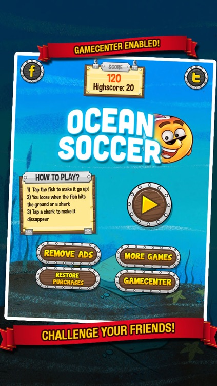 Ocean Soccer - Underwater Kick Ups Finger Football screenshot-4