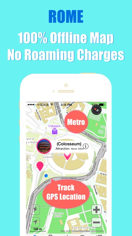 Rome travel guide and offline city map, Beetletrip Augmented Reality Rome Metro Train and Walks screenshot-3