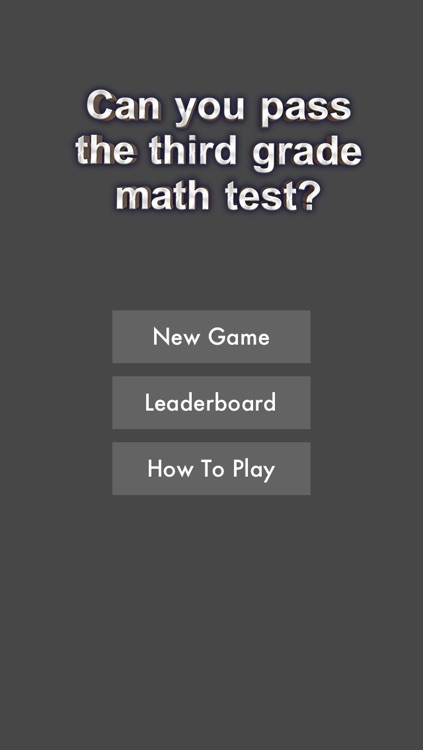 Can You Pass The Third Grade Math Test? FREE!