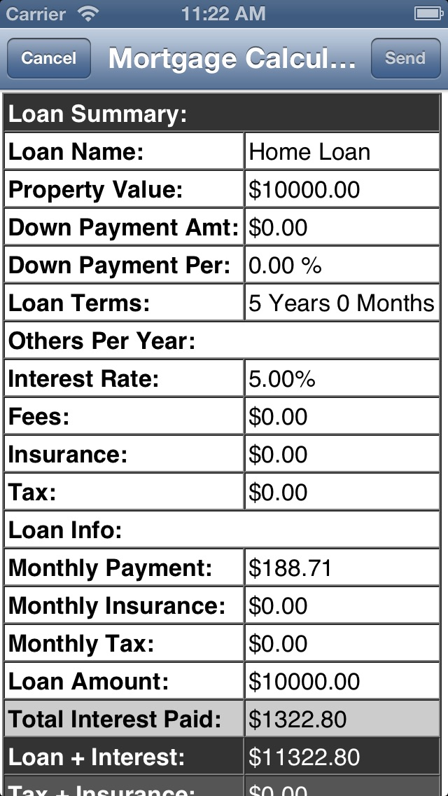 Mortgage Calculator. Lite Скриншоты6