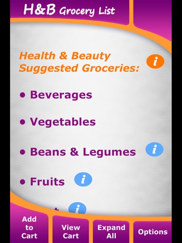 health grocery lists app price drops