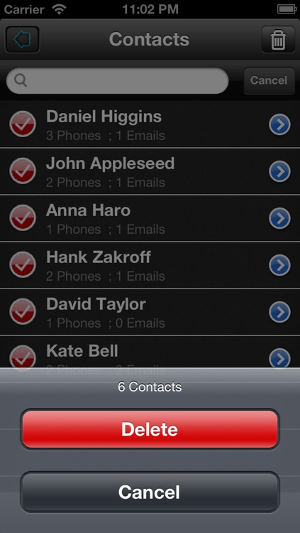 Multiple Contacts Delete and Easy BackUp App Lite screenshot-3