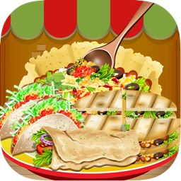 A Food Burrito Maker & Cooking Salon - make mexican cupcake & donut in making games for kids