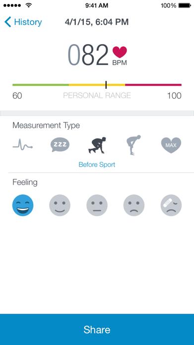 Runtastic Heart Rate Monitor Screenshot