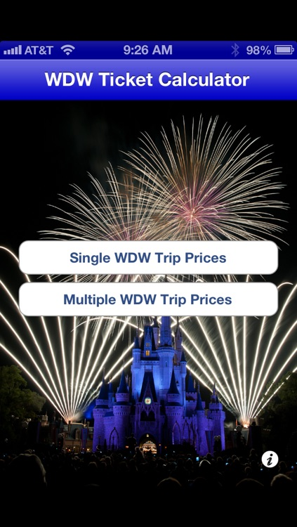 WDW Ticket Calculator - Walt Disney World Ticket Prices screenshot-0
