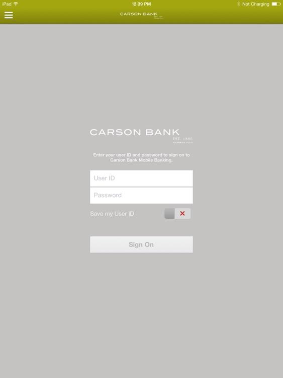 Carson Bank Mobile for iPad