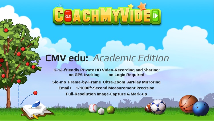 CMV edu Slow-mo Video Analysis: Academic Edition for PE Students & Teachers