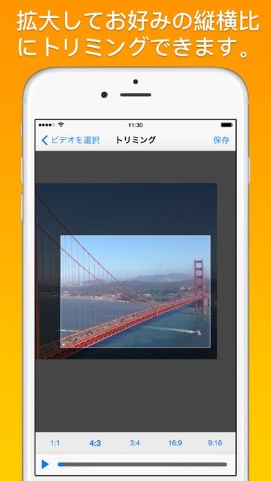 動画のトリミングとズーム screenshot1