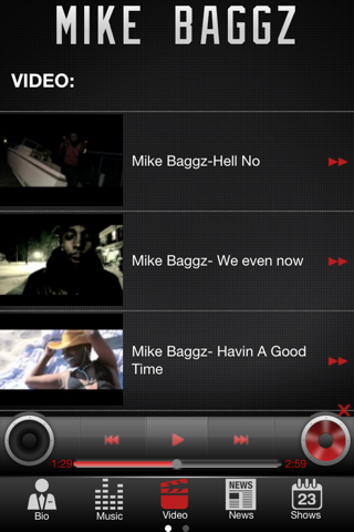 Mike Baggz App screenshot 3