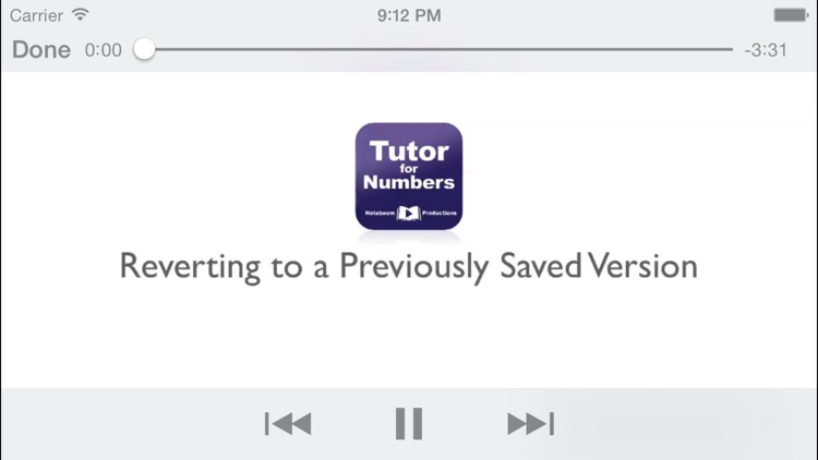 Tutor for Numbers for OS X screenshot-2