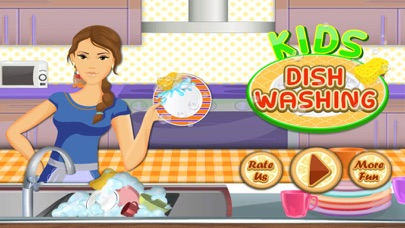 Kids Dish Washing and Cleaning Game - Free Fun Kitchen Games for Girls,Kids and Boys-0