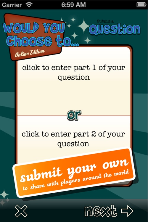 Would You Choose ... Online - A Rather Fun Party Game screenshot-3