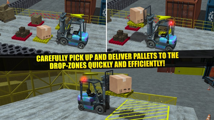 Fork Lift Truck Driving Simulator Real Extreme Car Parking Run